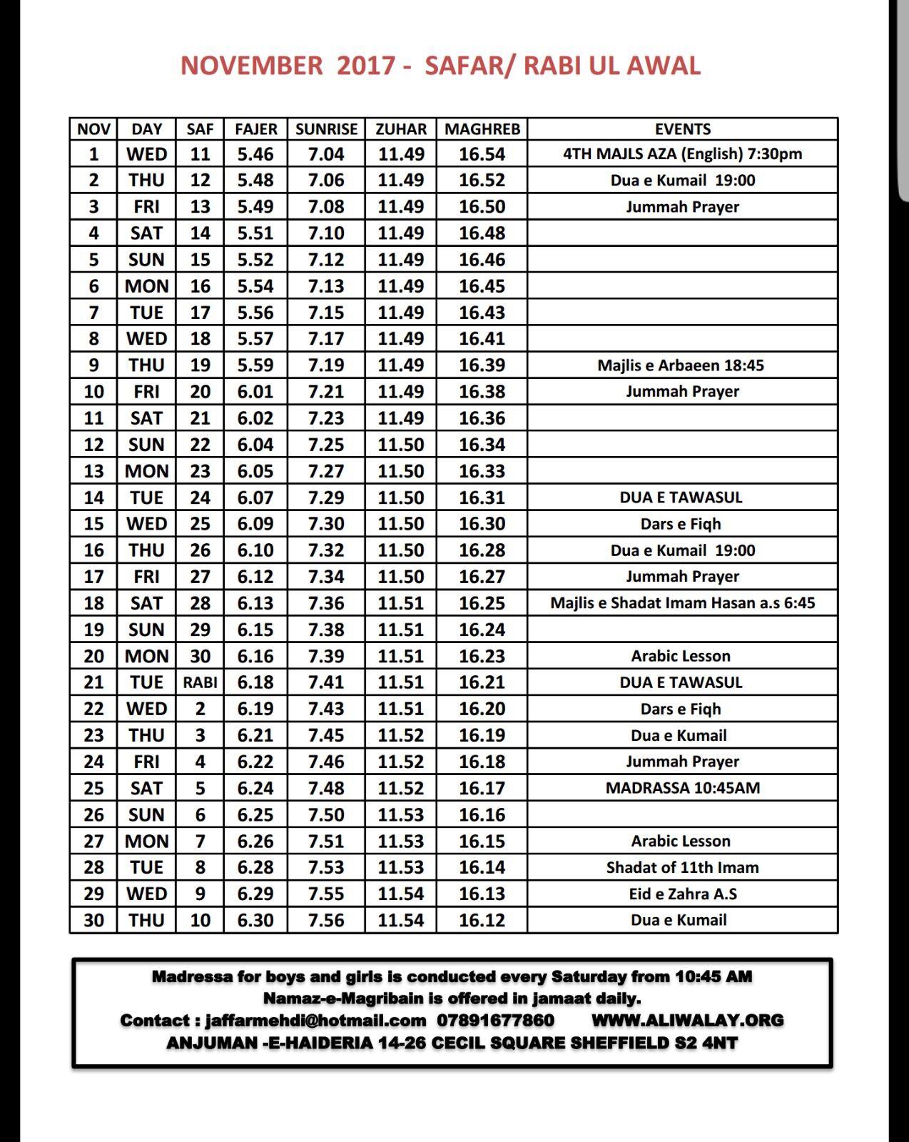 Nov_Timetable